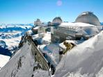 Pic du Midi, accessible via cable car from La Mongie