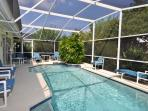 Our larger than average, very private, heated pool
