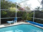 Our pool is screened and we have a pool cover to help retain the heat during the cooler periods