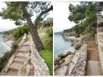 Pathways to our extensive private beach and waterfront