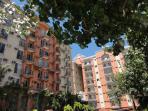 Cluster of condo buildings