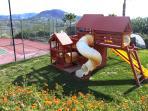 Playground Equipment Swing Set, Slides & Trampoline