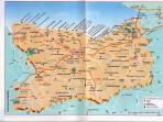 la carte de la région