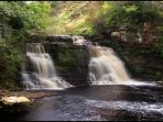Crammel Linn waterfall, for the extreme canoeist when in full spate, not for the faint hearted