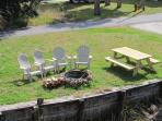 RV parking for rent with electric hook-up, water, fire pit, boat lift and picnic table.