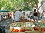 Lunel's weekly food market