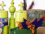 Villas de la Ermita 02 / Living Room Detail - With traditional Guatemalan knitting