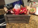 Luxury welcome basket