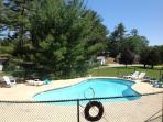 The pool is heated and just across from our cottage for easy access