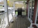 Natural Gas BBQ on Balcony