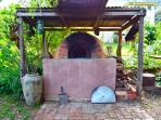 Wood fired oven - Gourmet Pizzas available on request.