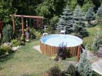 Backyard, with unheated pool