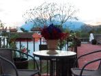 Villas de La Ermita 03 / Roof top terrace with a 360 view to Agua, Fuego and Acatenango Volcanoes