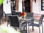 Villas de La Ermita 05 / Outdoor's dinning area