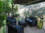 Upper patio, enjoy a glass and stay in touch with our WiFi