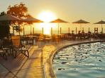 Adult Pool at Sunset
