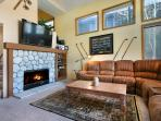 Living Area With A Gas Fireplace