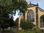 Greyfriar's Kirk and kirkyard are 150 metres from the apartment