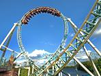 An exciting rollercoaster ride at Thorpe Park, 20 minutes away from the Victorian Lodge