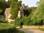 The Court House is set in the grounds of the medieval Manor House.  It's step back in time