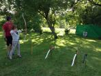 Archery taster session by Alex in the garden