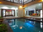 A majestic night view of Villa Rendezvous Bali