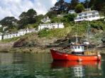 Coastal boat trip from Polperro.