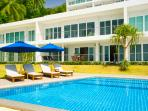 pool right in front of Villa Boda (A2) - easy access from its balcony gate