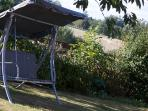 Garden Swingchair for that evening glass of wine