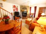 Valley Condos #101 - Corner Condo, King Bed, WiFi, Fireplace-Wood, Washer/Dryer, Community Hot Tubs, Playground, Creek