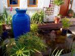 Croagh Patrick Apartment-Goldfish pond in courtyard