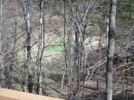 Looking out the back balcony to the 2 hole green of the Aplle Valley Golf Course