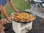 plat préparé la paella