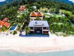 Bird's-eye view of Villa U - Amazing beach-side property on the stunning Lipa Noi beach