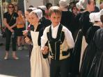 Dancing in the streets in Pontivy on its Fete Day.