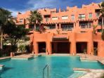 Choice of three immaculate pools. Main pool has beautiful water cascade