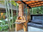 Outdoor barbecue and pizza oven!