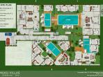 Temuku Villas - Four Unit Private Pool Villas - Siteplan