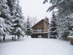 Vacationing doesn't stop with Summer at Chain Lake Log Lodge.  Join Us In Winter time fun!