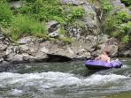 Raft a nearby river. We have 2 inner tubes available