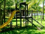 Childrens' Playground set among 6 acres of gardens and Mango trees