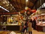 Narbonne indoor market is open every day. In summer, Carcassonne market on a Saturday is an event.