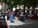 Band at the cherry festival.
