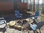 Relax and get some fresh air on the Adirondack chairs