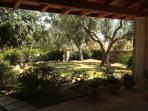 veranda adiacente all'ampio giardino