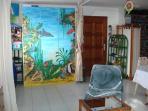 lit fermé décor aquarium