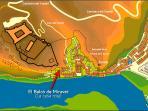 Localización en el casco antiguo de Miravet