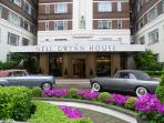 Nell Gwynn House driveway with classic Rolls Royce cars