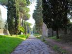 The nearby Old Appian Way