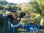 Jardim com redário, vista da suite.